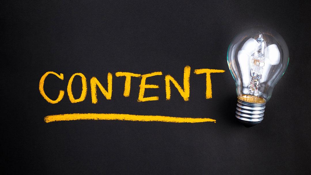 Content marketing light bulb
